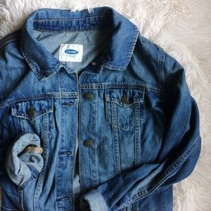 OLD NAVY blue jean long sleeve casual jacket